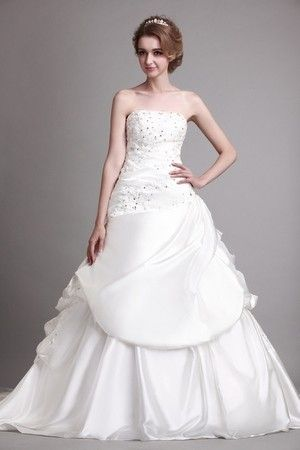 Sleeveless Hourglass Chapel Train Spring Rectangle Satin Fall Ruched Floor Length Wedding Dress