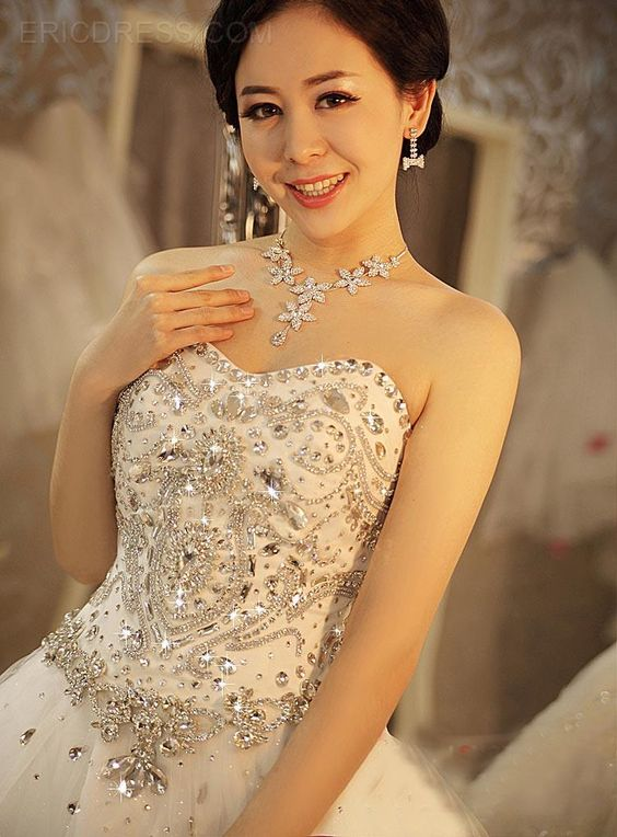explore jeweled wedding dresses