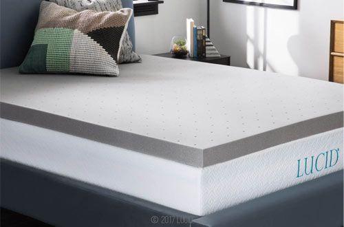 Amazon Com Lucid 3 Inch Gel Memory Foam Mattress Topper Full Xl