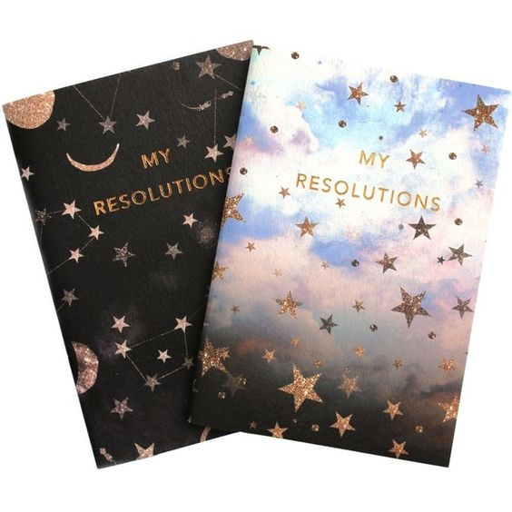 NIKKI STRANGE My Resolutions A6 notebook set (€9,87) ❤ liked on Polyvore featuring home, home decor and stationery