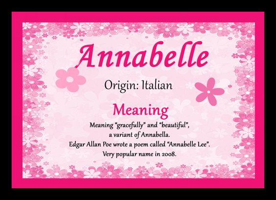 meaning of the name annabelle - Google Search
