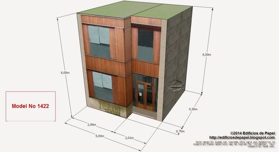 """Edificios de Papel: Modelo 1422 - Edificio Urbanismo, serie """"Ourense"""" ... Inagurada en el año 2011, el edificio en el que se inspira esta nueva casa en papel, está ubicado en Ourense (Galicia),  fruto de una inversión de 1,7 millones de euros."""