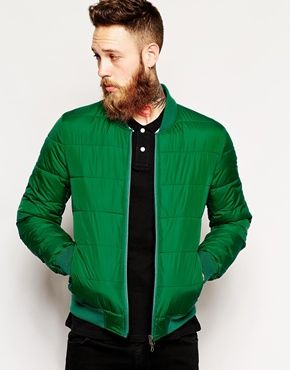 ASOS Quilted Bomber Jacket | Clothes | Pinterest | ASOS Green and