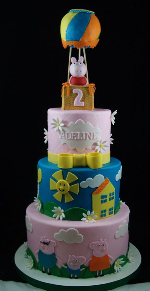 Peppa Pig Themed Birthday Cake Queen Cakes Cake Childrens Birthday Cakes