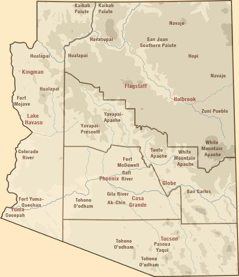 Arizonas American Indian Lands Map Arizona Pinterest Indian