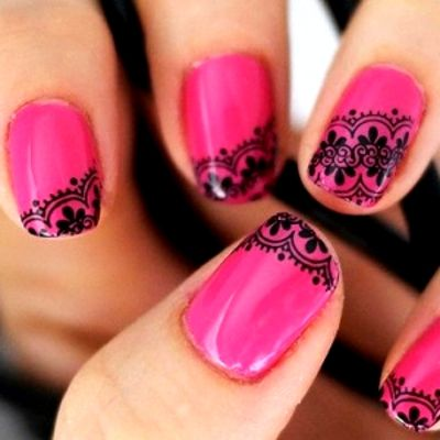 how to do lace nails