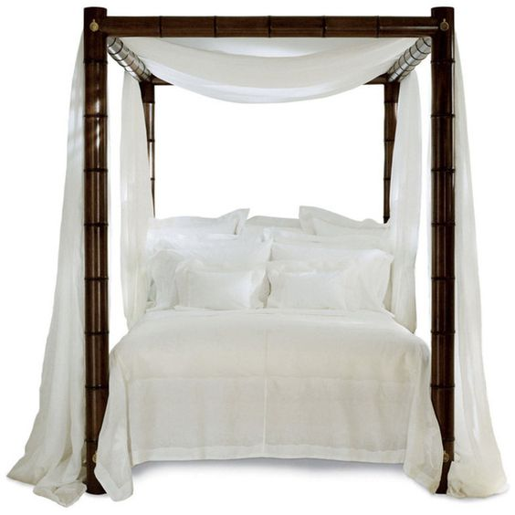 Bamboo Bed - Beds - Furniture - Products - Ralph Lauren Home - RalphLaurenHome.com found on Polyvore