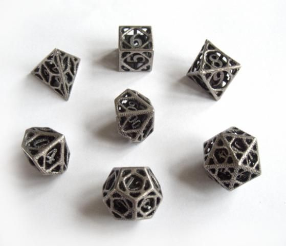 Cage Dice Set - Shapeways is a cool website, where they can make almost anything you can design. Designer Ceramicwombat designed this set of steel dice that look like little cages. It's so different from any other dice set I've ever seen. It's expensive at $80 for the stainless version, but you can bet nobody else would have anything like it.