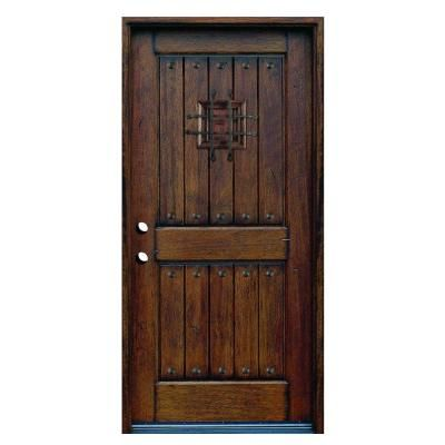 main door 36 in x 80 in rustic mahogany type stained