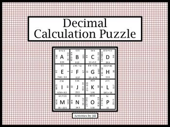 math worksheet : decimal calculation puzzle  decimal puzzles and fun : Decimal Puzzle Worksheets