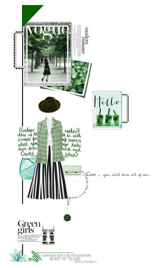 """"""":)"""" by opal17 ❤ liked on Polyvore featuring Valentino, Dot & Bo, Green Girls, TIBI and Karl Lagerfeld"""