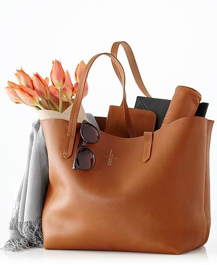 pretty everyday leather tote