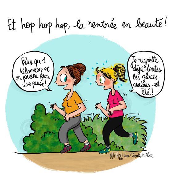 """Illustration par Crayon d'Humeur pour Charles & Alice : """"Mode footing activé, objectif zero peau d'orange ! """""""