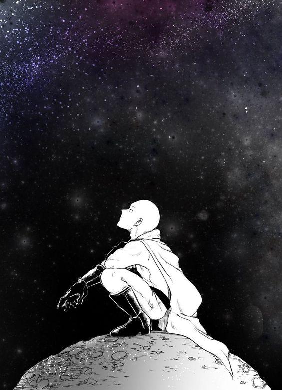 ワンパンマンと宇宙の壁紙