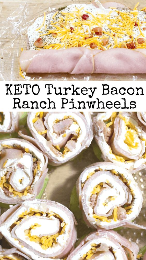 Keto Turkey Bacon Ranch Pinwheels Recipe