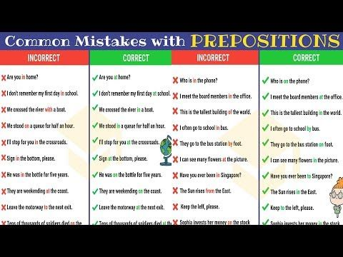 Learn Extensive List Of Most Common Mistakes With Prepositions And How To Avoid Them With Examples Common Prepositions Common Grammar Mistakes English Lessons
