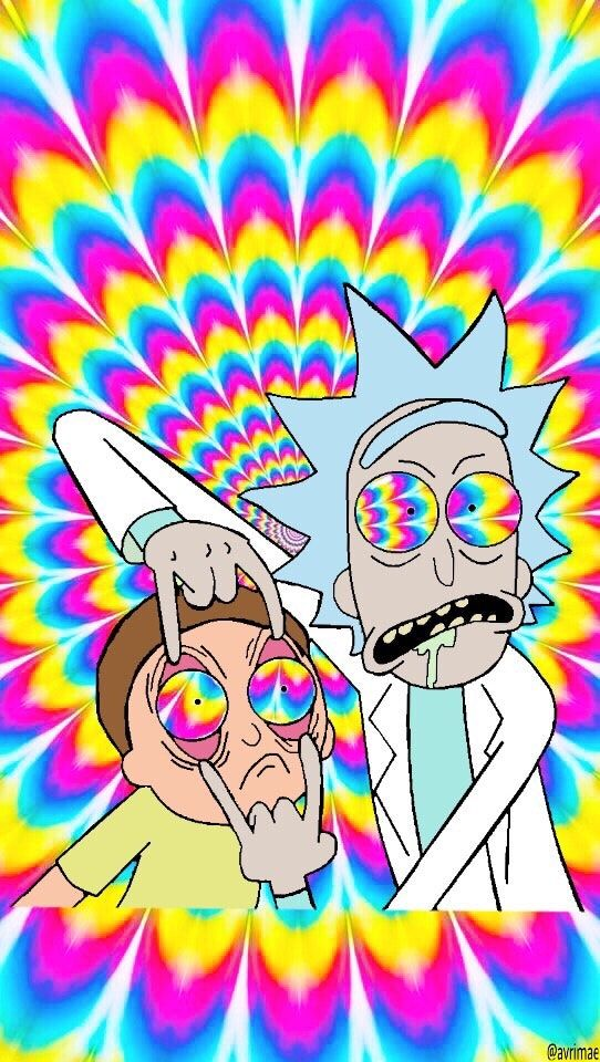 Pin By Nannette Helton On Denim Doilies Trippy Wallpaper Trippy Backgrounds Rick And Morty Poster