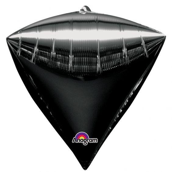 Globo negro diamante