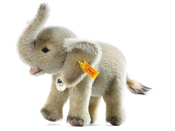 steiff eli elephant mohair stuffed animal crafts etc. Black Bedroom Furniture Sets. Home Design Ideas