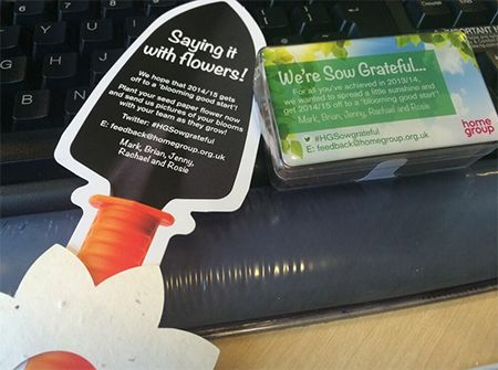 Home Group's Laura Ashton - Thanks #HGSowgrateful @Home Group nice to be appreciated! Can't wait to plant my flower @MarkGHenderson