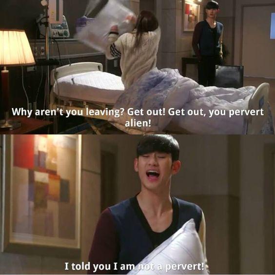 Korean Drama Quotes FB Pervert Alien. Love Her.
