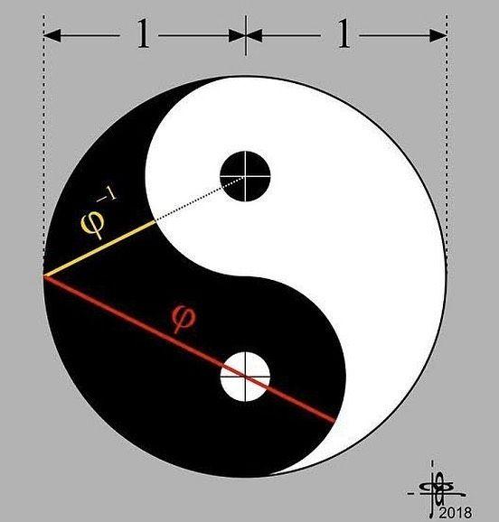 Jain 108 Academy On Instagram Yin Yang Phi Mathematics Embedded Within Over The Last 3 Decades I Have Made It My I Sezione Aurea Leonardo Da Vinci Grafici