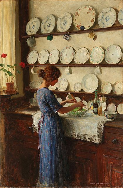 William Henry Margetson, The Lady of the House - I love this picture: