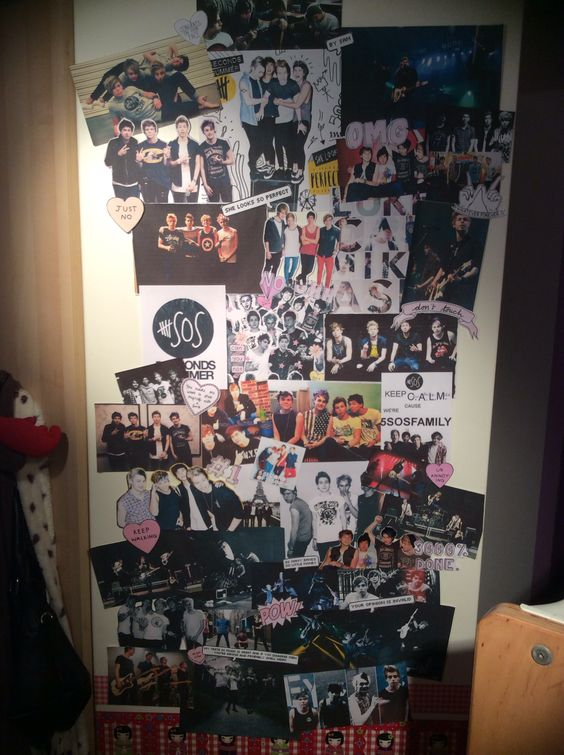 i m really pumped about how my 5sos life size collage On 5sos bedroom ideas