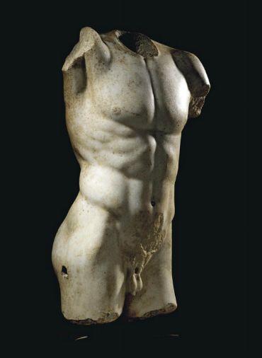 A ROMAN MARBLE TORSO OF AN ATHLETE -  CIRCA 1ST-2ND CENTURY A.D.    Christie's