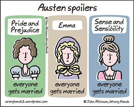 "Presenting ""Austen Spoilers"" Cartoon by John Atkinson"