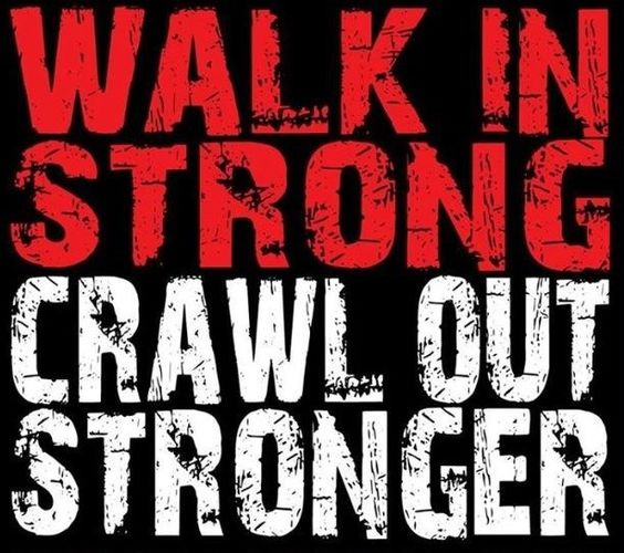 Walk in strong, crawl out stronger!  Come get your fitness on at Powerhouse Gym in West Bloomfield, MI!  Just call (248) 539-3370 or visit our website powerhousegym.com/welcome-west-bloomfield-powerhouse-i-41.html for more information!