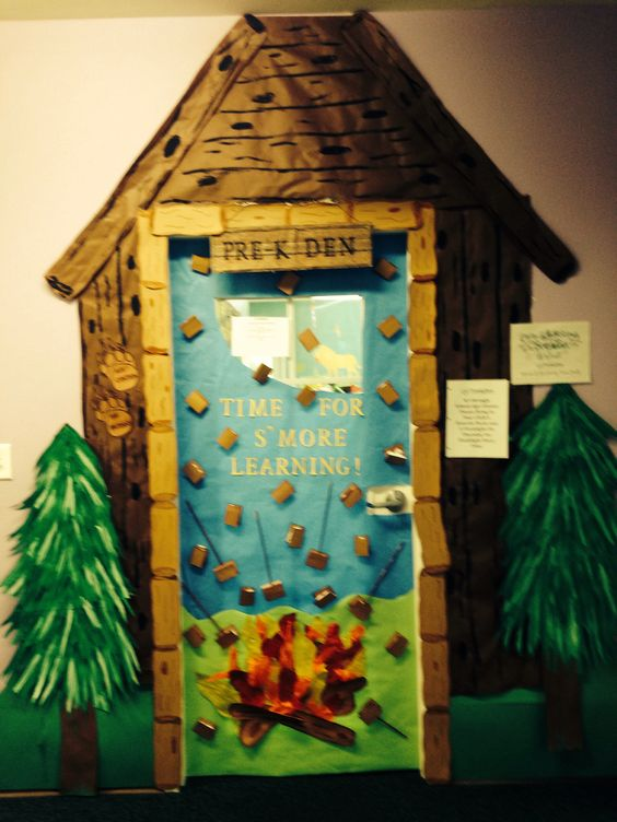Camping Classroom Door Decoration ~ Camping theme door bulletin boards and other ideas
