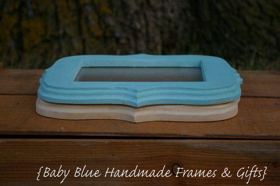 5x7 Whimsical Frames by BabyBlueFrames on Etsy, $30.00