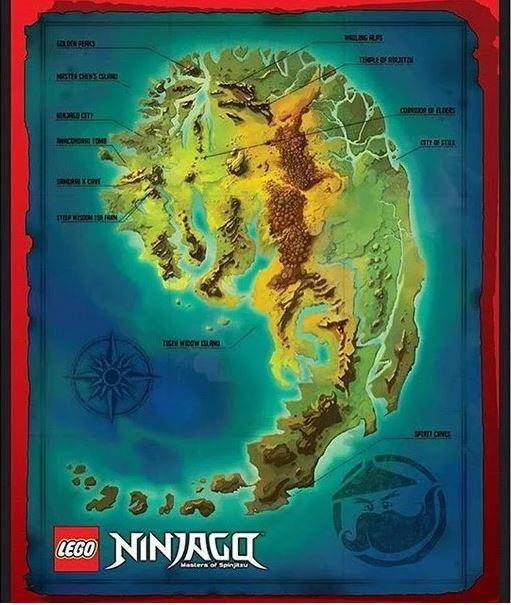 Wu Cru Map Of Ninjago Lego Ninjago Lego Ninjago Movie Ninjago
