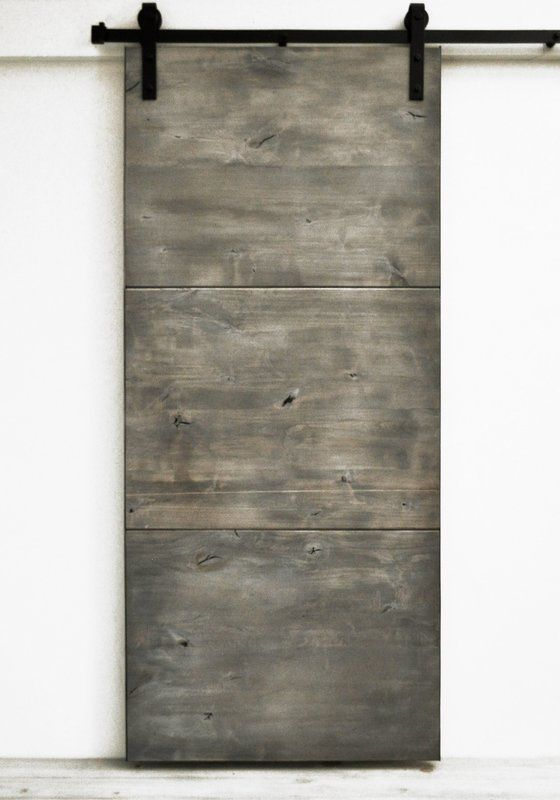 Modern Slab Wood 1 Panel Interior Barn Door Sliding Doors Interior Barn Door Doors Interior