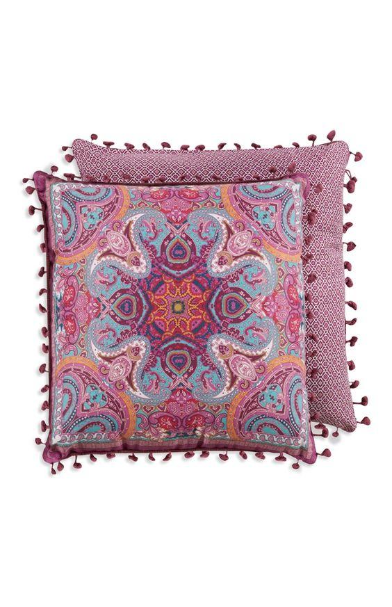 Primark Paisley Print Pom Pom Cushion Pompom Cushion Cushion Covers Paisley Print