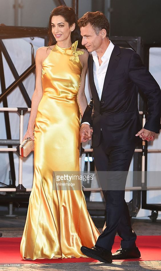Amal Clooney with her brother Samer Alamuddin attend the ...