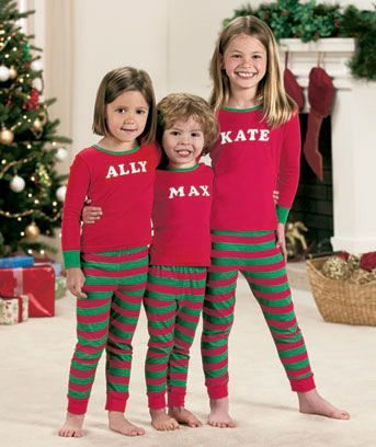 Kids 39 personalized cotton pjs nick for thanksgiving for Funny matching family christmas pajamas