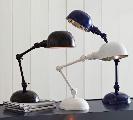 Pottery Barn Vintage Desk Lamp: NIB Pottery Barn Navy Blue Harrison Task Desk Lamp