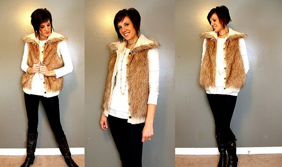 What I Wore Wednesday on #pleatedpoppy - faux fur