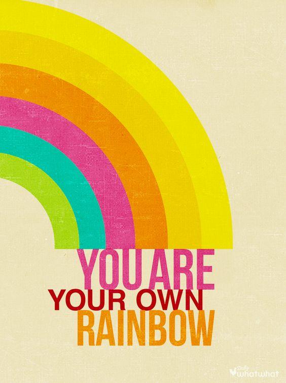 Rainbow Positive Design Quote Rainbow Quotes