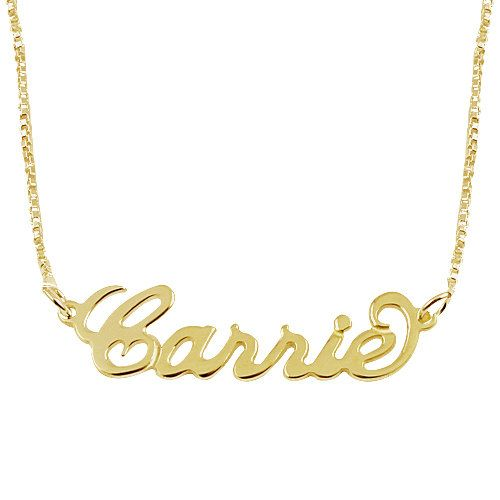 Custom Name Necklace - Choose any name to Personalize 18k Gold Plated Name Necklace on Etsy, $37.99
