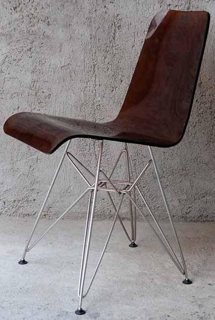 Chaise coque plexiglas fum brun et chrome ann es 60 for Chaise annee 70