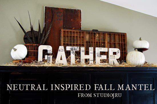 Neutral Inspired Fall Mantle from StudioJRU