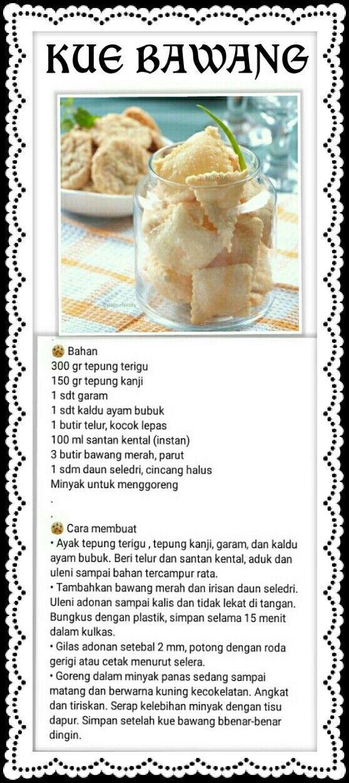 Kue Kering Bawang Makanan Enak Kue Kering Resep Makanan