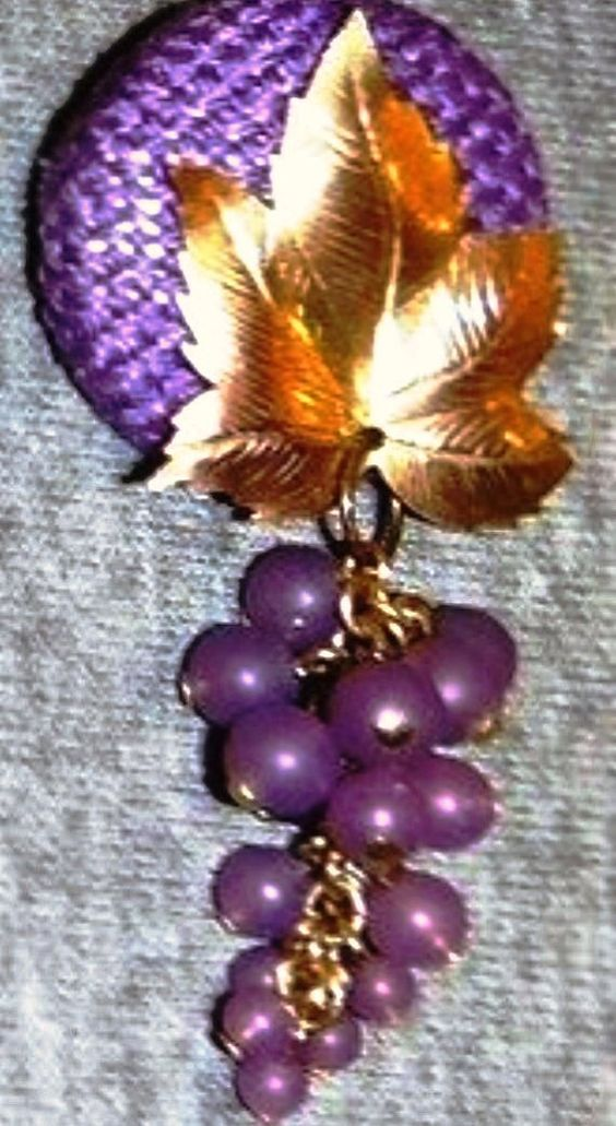 Ode to Grapes Brooch by RevisitedBeauty on Etsy