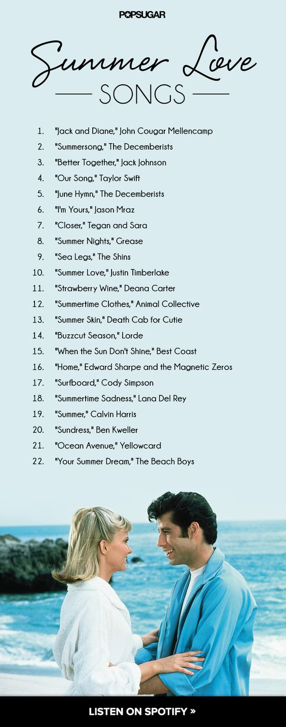 22 Romantic Love Songs For Summer Days and Nights Sun