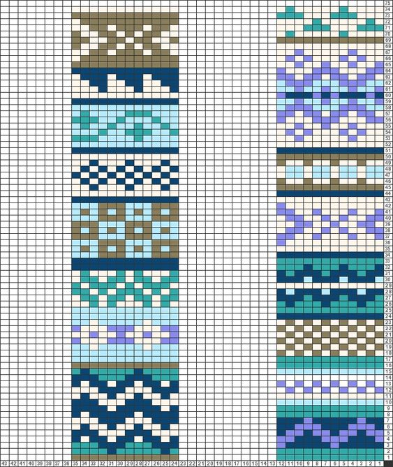 Charts, Fair isle chart and Macrame patterns on Pinterest