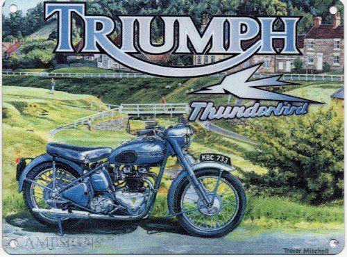 Triumph Thunderbird Metal Sign