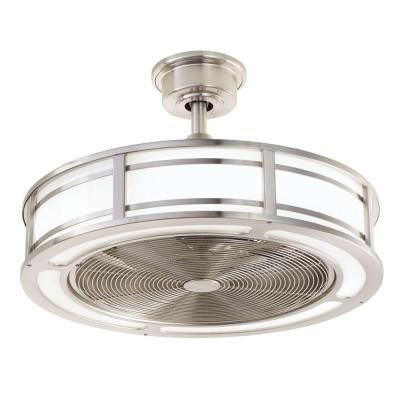 home decorators collection brette 23 in led indooroutdoor brushed nickel ceiling fan